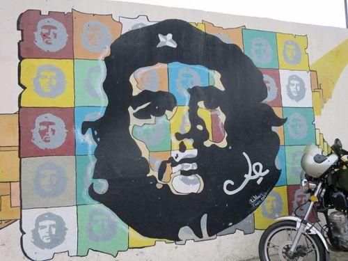 各地常見的格瓦拉壁畫一例。
