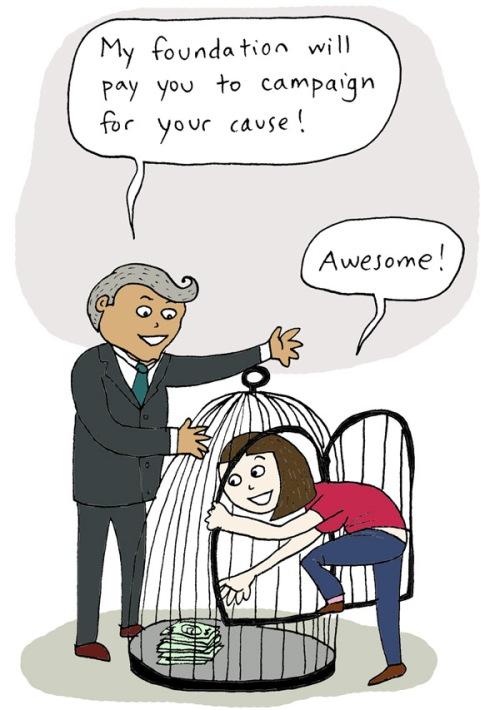 「我的基金會會為你的運動提供經費!」 「太棒了!」 (http://stephaniemcmillan.org)