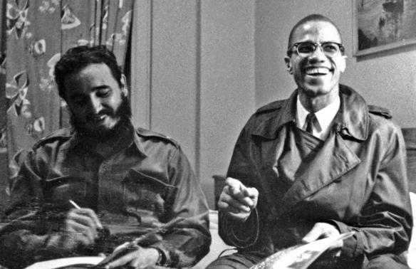 1960年9月紐約哈林,馬爾科姆·X和菲德爾·卡斯特羅會晤。